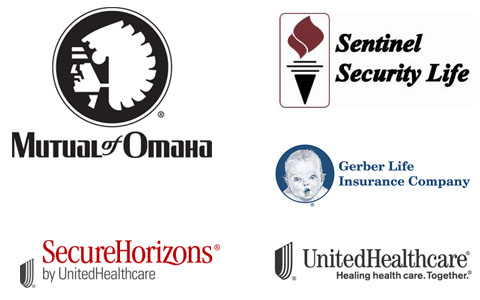 Medicare Carriers - Mutual of Omaha, Sentinel Security Life, Secure Horizons, Gerber Life Insurance Company, United Healthcare